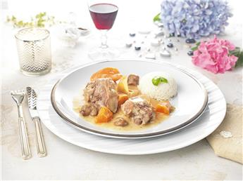 Goose blanquette with vegetables